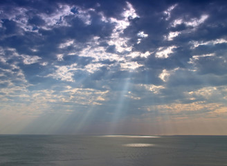 heavenly light from the sky