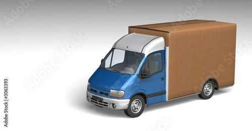 camion de livraison photo libre de droits sur la banque d 39 images image 3063393. Black Bedroom Furniture Sets. Home Design Ideas