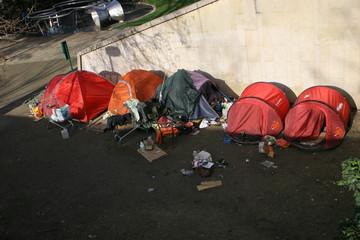 homeless in row