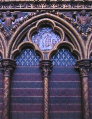 detail of the trancept in a church, sainte chapelle, notre dame