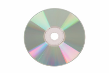 isolated cd with clipping path