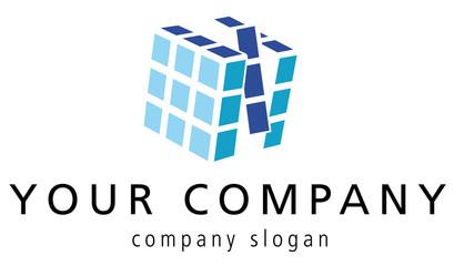 logo mit würfel