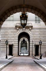 arcs of a building