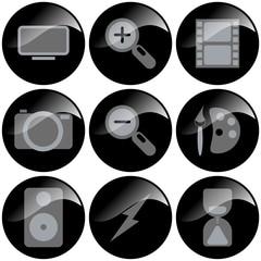 icon button multimedia