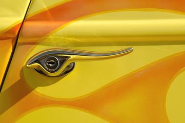 Wall Mural - hot rod handle