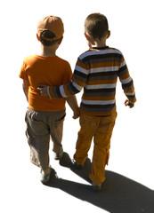 isolated walking kids