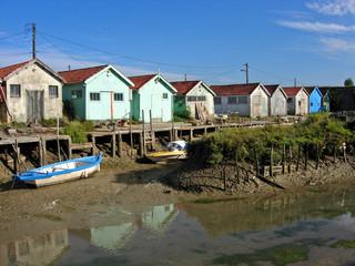 cabanes de pêcheurs à chateau d'oléron