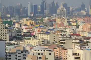 Autocollant pour porte Delhi bangkok cityscape