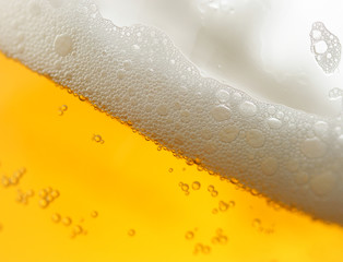 beer with froth