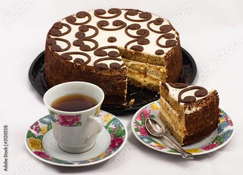 Картинки кусочек торта и чяй