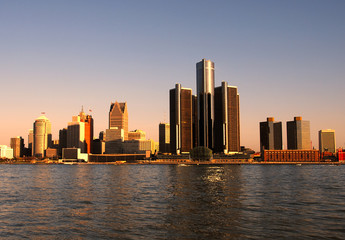 detroit in twilight