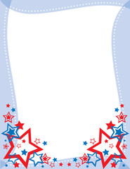 red, white and blue star frame