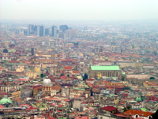 aerial view of naples