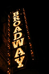 Wall Murals Theater broadway sign