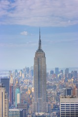 empire state building and manhattan skyline, new y