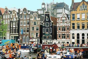 Fototapeten Amsterdam vue d'amsterdam