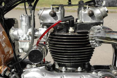 Wall mural vintage motorcycle engine