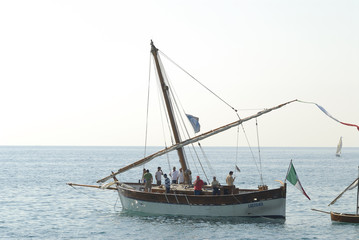 sailing boat without sail