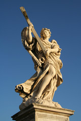 Low angle view of a statue