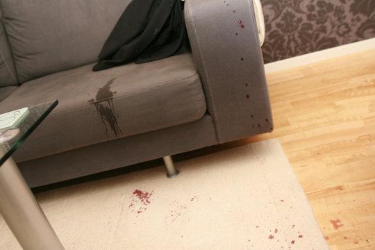 red wine on sofa