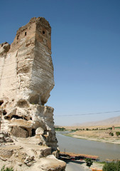 the hasankeyf village on the tigris river, turkey.