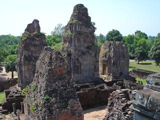 four old khmer pyramid temple, bayon, angkor vat temples, cambod