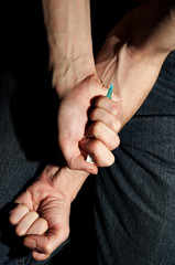 injection of a drug