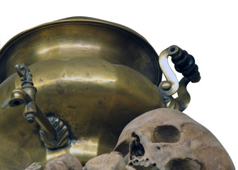 samovar and skull