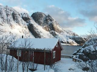 nevicata a nusfjord