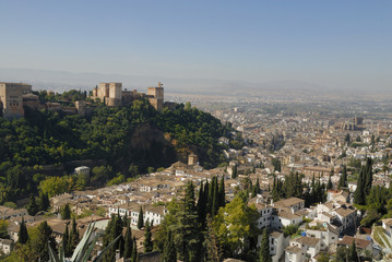 view at the alhambra granada spain