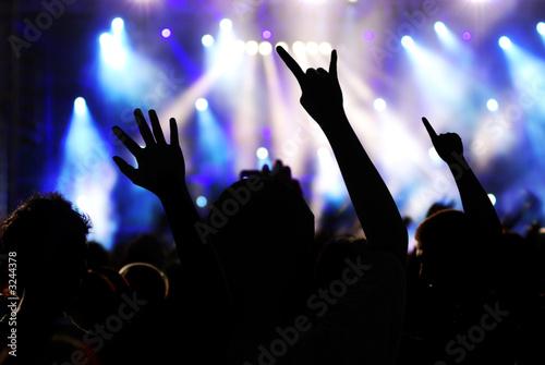 На рок фестивале выступают