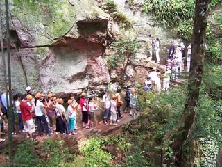tourists at da jing hu