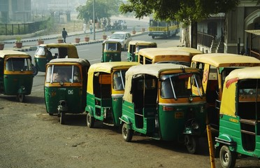 Photo sur Aluminium Delhi transport in new delhi