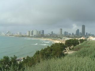 panoramic view of tel aviv city in israel