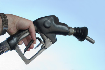 hand pumping gas fuel