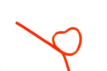 hearts shapes straws