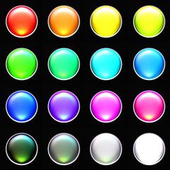 kit boutons fluo fond noir