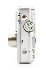 digital photo camera on white (include clipping pa