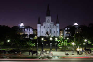 jackson square night