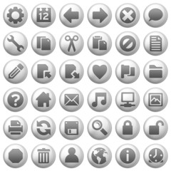 round metal icons