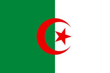 Foto auf Acrylglas Algerien drapeau algerie
