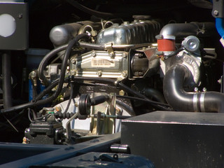 the engine, the motor