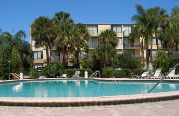 tropical pool side