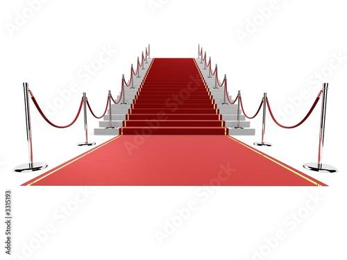 roter teppich auf einer treppe stockfotos und. Black Bedroom Furniture Sets. Home Design Ideas