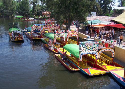 boats of xochimilco.