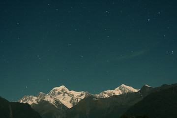 Mount Cook by night