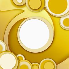 cornice/sfondo circolare giallo