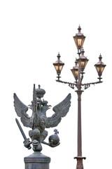eagle and lamp