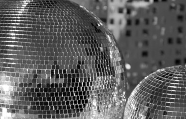 two discoballs