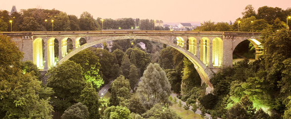 Canvas Prints Bridge pont adolphe bridge